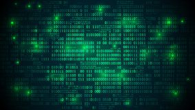 Le cyberespace futuriste abstrait avec le code binaire, fond de matrice avec des chiffres, a bien organisé des couches images stock