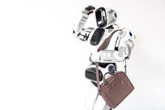 Le cyborg frais scrute dans la distance attentivement Image libre de droits