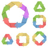 Le cycle de système de vecteur a placé 4 Image libre de droits