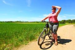 Le cycliste image libre de droits