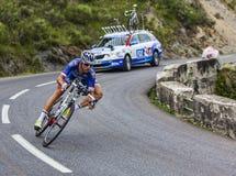 Le cycliste Alexandre Geniez Image libre de droits