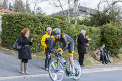 Le cycliste Alexandre Pichot - 2016 Paris-gentil Photos stock