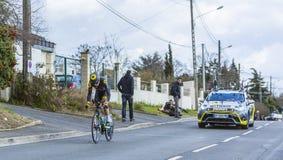 Le cycliste Alexandre Pichot - 2016 Paris-gentil Photo libre de droits