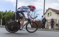 Le cycliste Andre Greipel - 2016 Paris-gentil images stock