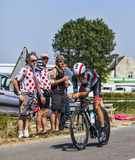 Le cycliste Andreas Klöden Images libres de droits