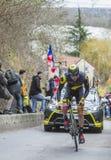 Le cycliste Antoine Duchesne - 2016 Paris-gentil Images stock