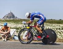 Le cycliste Arnold Jeannesson Photo libre de droits