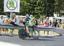 Le cycliste Bauke Mollema - Tour de France 2014 Photos stock