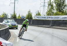Le cycliste Bauke Mollema - Tour de France 2014 images libres de droits