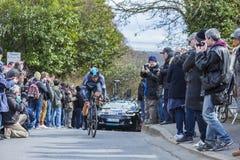 Le cycliste Ben Swift - 2016 Paris-gentil Image libre de droits
