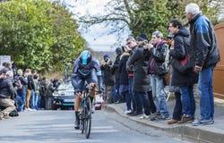 Le cycliste Ben Swift - 2016 Paris-gentil Images stock