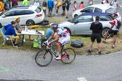 Le cycliste Benoit Vaugrenard - Tour de France 2015 Photos libres de droits