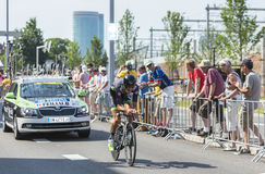 Le cycliste Brice Feillu - Tour de France 2015 Photo libre de droits