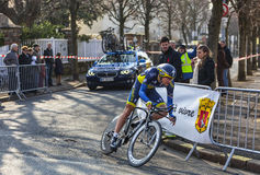Le cycliste Christensen Mads- Paris Nice Prol 2013 Photos libres de droits