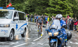 Le cycliste Christophe Riblon - Tour de France 2014 Photographie stock libre de droits