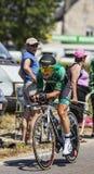 Le cycliste Cyril Gautier Image libre de droits