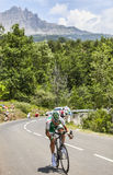 Le cycliste Cyril Lemoine Image stock