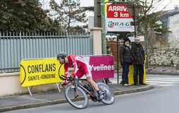 Le cycliste Cyril Lemoine - 2016 Paris-gentil Photos libres de droits