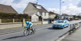 Le cycliste Daniil Fominykh- 2016 Paris-gentil photographie stock