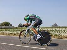 Le cycliste Davide Malacarne Image libre de droits