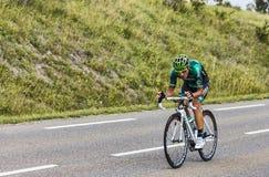 Le cycliste Davide Malacarne Photographie stock libre de droits
