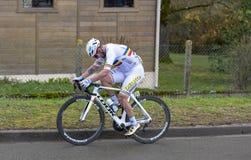 Le cycliste Eduard Grosu - 2019 Paris-gentil photos libres de droits