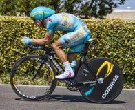 Le cycliste Enrico Gasparotto Image libre de droits