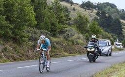 Le cycliste Enrico Gasparotto Photos libres de droits