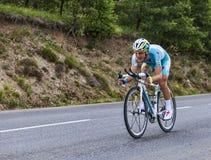 Le cycliste Enrico Gasparotto Photo libre de droits