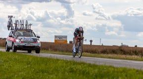 Le cycliste espagnol Zubeldia Haimar Image libre de droits