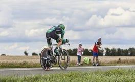 Le cycliste français Rolland Pierre Photo libre de droits
