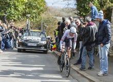Le cycliste Frank Schleck - 2016 Paris-gentil Photo stock