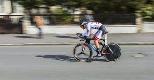 Le cycliste Georg Preidler - 2016 Paris-gentil images libres de droits