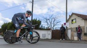Le cycliste Ian Stannard - 2016 Paris-gentil image libre de droits