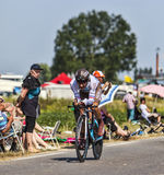 Le cycliste Jean-Christophe Peraud Photo libre de droits