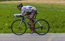 Le cycliste Jean-Christophe Peraud Photos libres de droits