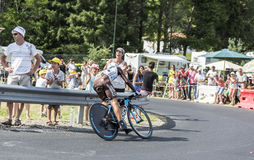 Le cycliste Jean-Christophe Peraud - Tour de France 2014 Image stock