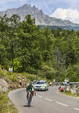 Le cycliste Jean-Marc Marino Images stock