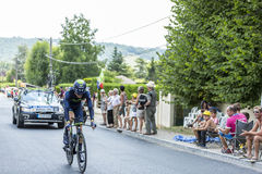 Le cycliste Jesus Herrada Lopez - Tour de France 2014 Photographie stock libre de droits