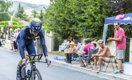 Le cycliste Jesus Herrada Lopez - Tour de France 2014 Images stock