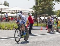 Le cycliste Johannes Fröhlinger Photographie stock libre de droits