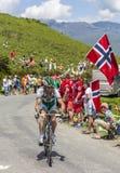 Le cycliste Jonathan Hivert Images libres de droits