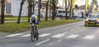 Le cycliste Jos van Emden - 2016 Paris-gentil images stock
