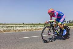 Le cycliste Jose Rodolfo Serpa Perez Images libres de droits