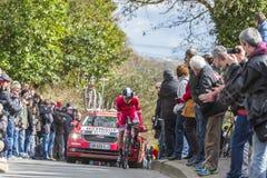 Le cycliste Julien Simon - 2016 Paris-gentil Image libre de droits