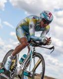 Le cycliste kazakh Fofonov Dmitriy Photographie stock libre de droits