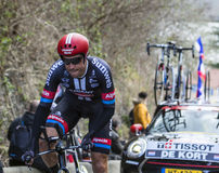 Le cycliste Koen de Kort - 2016 Paris-gentil Image libre de droits