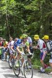 Le cycliste Kristijan Koren Images libres de droits