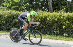 Le cycliste Lars Boom - Tour de France 2014 Photo libre de droits