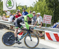 Le cycliste Laurens Ten Dam - Tour de France 2014 Image stock